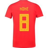 Spain Home Shirt 2018 with Koke 8 printing