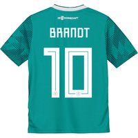Germany Away Shirt 2018 - Kids with Brandt 10 printing