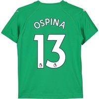 Arsenal Away Goalkeeper Shirt 2018-19 - Kids with Ospina 13 printing
