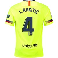 Barcelona Away Stadium Shirt 2018-19 with Rakitic 4 printing