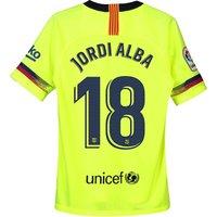 Barcelona Away Stadium Shirt 2018-19 - Kids with Jordi Alba 18 printing