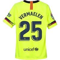 Barcelona Away Stadium Shirt 2018-19 - Kids with Vermaelen 25 printing