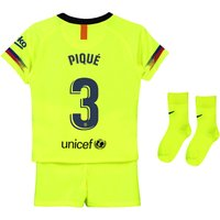 Barcelona Away Stadium Kit 2018-19 - Infants with Piqué 3 printing