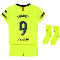 Barcelona Away Stadium Kit 2018-19 - Infants with Suárez 9 printing