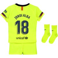 Barcelona Away Stadium Kit 2018-19 - Infants with Jordi Alba 18 printing