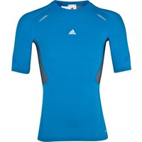 Adidas TechFit Preperation Top - Short Sleeve - Bright Blue