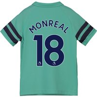 Arsenal Third Shirt 2018-19 - Kids with Monreal 18 printing