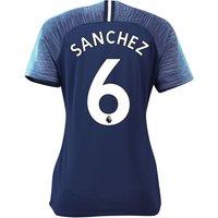 Tottenham Hotspur Away Stadium Shirt 2018-19 - Womens With Sánchez 6 Printing