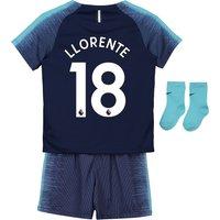 Tottenham Hotspur Away Stadium Kit 2018-19 - Infants with Llorente 18 printing