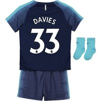 Tottenham Hotspur Away Stadium Kit 2018-19 - Infants with Davies 33 printing