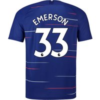 Chelsea Home Stadium Shirt 2018-19 - Kids with Emerson 33 printing