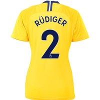 Chelsea Away Stadium Shirt 2018-19 - Womens with Rüdiger 2 printing