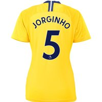 Chelsea Away Stadium Shirt 2018-19 - Womens with Jorginho 5 printing