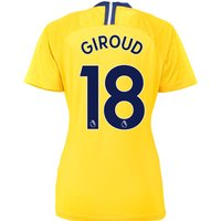 Chelsea Away Stadium Shirt 2018-19 - Womens with Giroud 18 printing