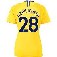 Chelsea Away Stadium Shirt 2018-19 - Womens with Azpilicueta 28 printing