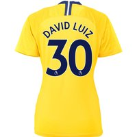 Chelsea Away Stadium Shirt 2018-19 - Womens with David Luiz 30 printing