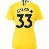 Chelsea Away Stadium Shirt 2018-19 - Womens with Emerson 33 printing