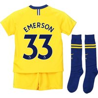 Chelsea Away Stadium Kit 2018-19 - Little Kids with Emerson 33 printing