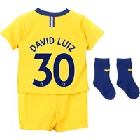 Chelsea Away Stadium Kit 2018-19 - Infants with David Luiz 30 printing