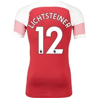 Arsenal Authentic Evoknit Home Shirt 2018-19 With Lichtsteiner 12 Printing