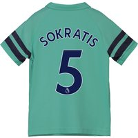 Arsenal Third Shirt 2018-19 - Kids with Sokratis 5 printing