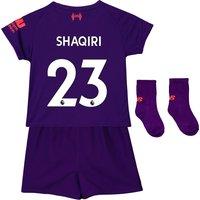 Liverpool Away Baby Kit 2018-19 with Shaqiri 23 printing