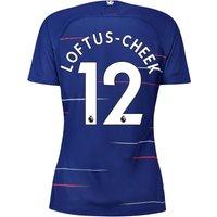 Chelsea Home Stadium Shirt 2018-19 - Womens with Loftus-Cheek 12 printing