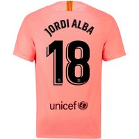Barcelona Third Vapor Match Shirt 2018-19 with Jordi Alba 18 printing