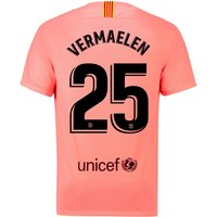Barcelona Third Vapor Match Shirt 2018-19 with Vermaelen 25 printing