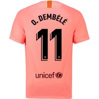 Barcelona Third Stadium Shirt 2018-19 with O. Dembélé 11 printing