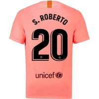 Barcelona Third Stadium Shirt 2018-19 with S.Roberto 20 printing