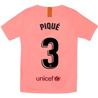 Barcelona Third Stadium Shirt 2018-19 - Kids with Piqué 3 printing