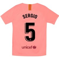 Barcelona Third Stadium Shirt 2018-19 - Kids with Sergio 5 printing
