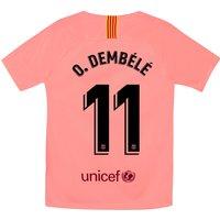 Barcelona Third Stadium Shirt 2018-19 - Kids with O. Dembélé 11 printing