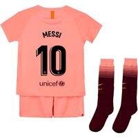 Barcelona Third Stadium Kit 2018-19 - Little Kids with Messi 10 printing