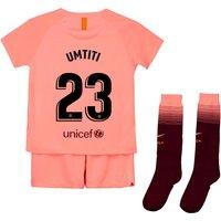 Barcelona Third Stadium Kit 2018-19 - Little Kids with Umtiti 23 printing