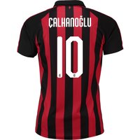 Ac Milan Authentic Evoknit Home Shirt 2018-19 With Çalhanoglu 10 Printing