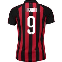 Ac Milan Home Shirt 2018-19 With Higuaín 9 Printing