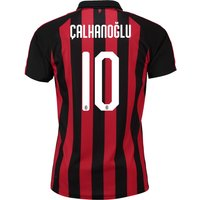 Ac Milan Home Shirt 2018-19 With Çalhanoglu 10 Printing