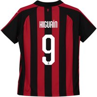 Ac Milan Home Shirt 2018-19 - Kids With Higuaín 9 Printing