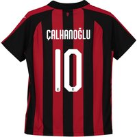 Ac Milan Home Shirt 2018-19 - Kids With Çalhanoglu 10 Printing