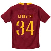As Roma Home Stadium Shirt 2018-19 - Kids With Kluivert 34 Printing
