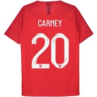 England Away Vapor Match Shirt 2018 - Kids with Carney 20 printing