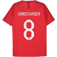 England Away Vapor Match Shirt 2018 - Kids with Christiansen 8 printing