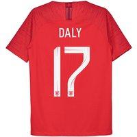 England Away Vapor Match Shirt 2018 - Kids with Daly 17 printing
