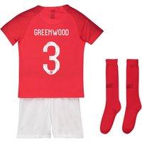 England Away Stadium Kit 2018 - Infants with Greenwood 3 printing