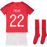 England Away Stadium Kit 2018 - Infants with Mead 22 printing