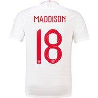 England Home Vapor Match Shirt 2018 with Maddison 18 printing