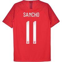 England Away Vapor Match Shirt 2018 - Kids with Sancho 7 printing
