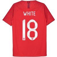 England Away Vapor Match Shirt 2018 - Kids with White 18 printing